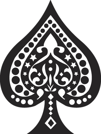 Playing card spade