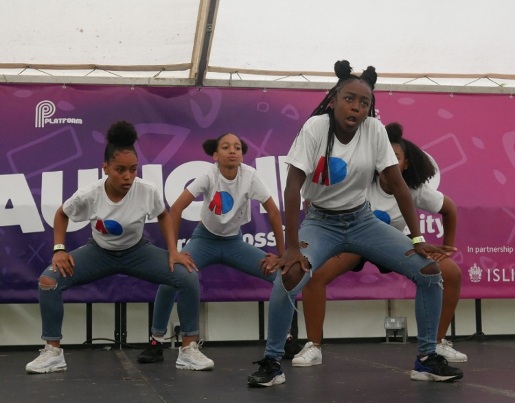 Performing at Go Islington Festival