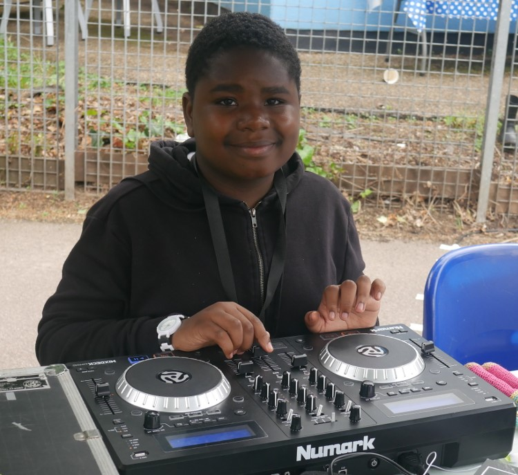 DJ SK Beats playing at our Summer Celebration